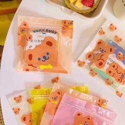 可愛小熊夾鏈袋 創意小熊印花密封袋 包裝糖果袋 包裝袋 夾鏈袋