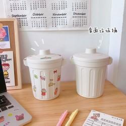 簡約桌面收納桶 創意居家必備迷你垃圾桶 桌上型文具收納桶 車用小垃圾桶【團購買越多越便宜】
