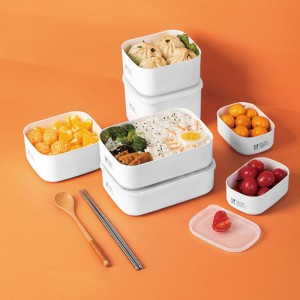 食物保鮮收納盒 野餐必備便當盒 簡約密封保鮮盒 冰箱保鮮盒
