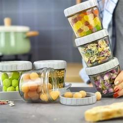 加厚玻璃密封罐 防潮多功能玻璃收納罐 多功能防漏保鮮盒 3個裝
