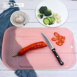 創意多功能砧板 長方形PP塑膠砧板 三合一廚房砧板 居家必備