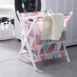印花布藝摺疊收納籃 大容量立式折疊防水置物籃 加高收納籃