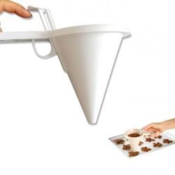 手持式分量漏斗 巧克力分液器 蛋糕銅鑼燒分量器 烘焙工具