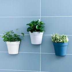 壁掛式塑膠花盆 創意半圓形塑膠盆栽 塑膠牆面裝飾花盆 美化小清新花盆