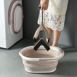 摺疊拖把水桶 可折疊儲水桶 手提塑膠水桶 居家清潔必備水桶 超省空間
