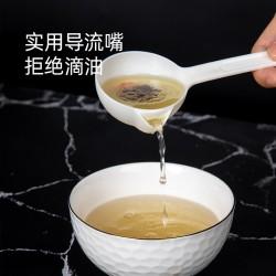 塑膠過濾湯匙 創意長柄分離碎渣湯匙 廚房必備塑膠大湯匙