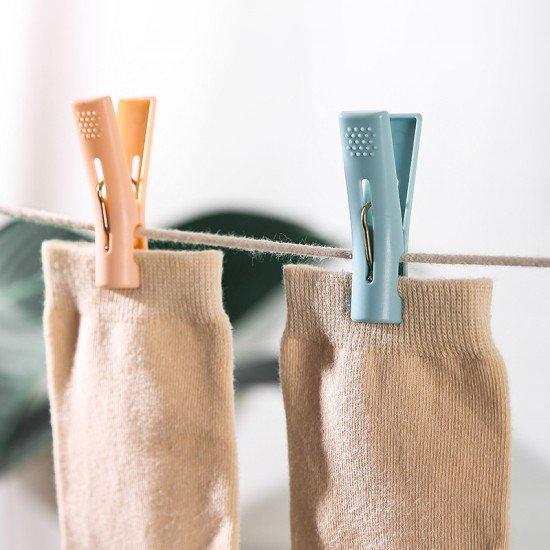 撞色多用途衣夾 創意塑膠防風曬衣夾 可站立衣夾 北歐風夾子 10個裝