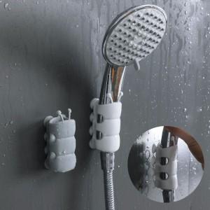 蓮蓬頭固定吸盤 造型壁掛式蓮蓬頭支架 浴室必備蓮蓬頭吸盤固定器