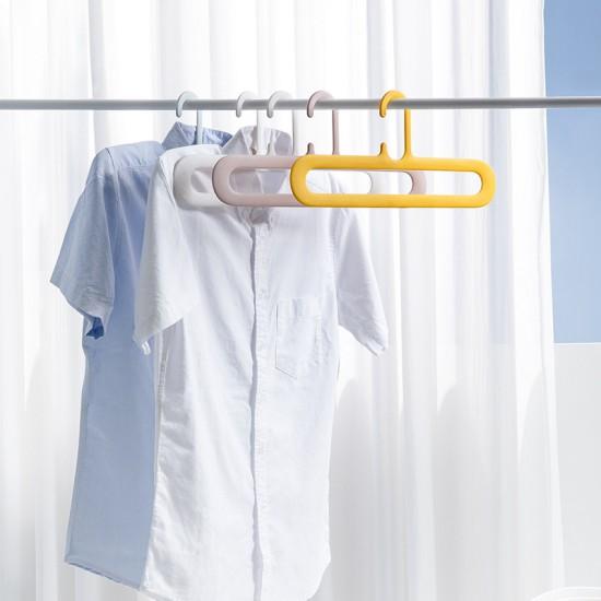 簡約無痕防滑衣架 創意造型加粗塑膠衣架 多功能簡約輕便衣架