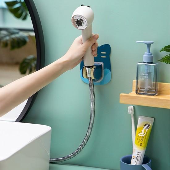 蓮蓬頭固定支架 浴室必備蓮蓬頭底座掛勾 創意造型蓮蓬頭掛架