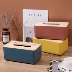 簡約木蓋抽取式面紙盒 北歐風桌面衛生紙收納盒 創意車用抽取面紙盒