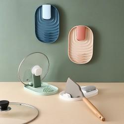 廚房鍋鏟鍋蓋置物架 廚房必備餐具收納架 塑膠鍋蓋架 鍋鏟湯杓置物架