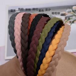 磨砂辮子髮箍 簡約百搭辮子造型髮箍 磨砂時尚少女髮箍