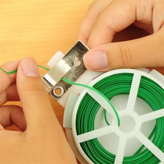 多功能金屬捆線器 自動切割鐵絲綑綁帶 多用途30米金屬綁帶