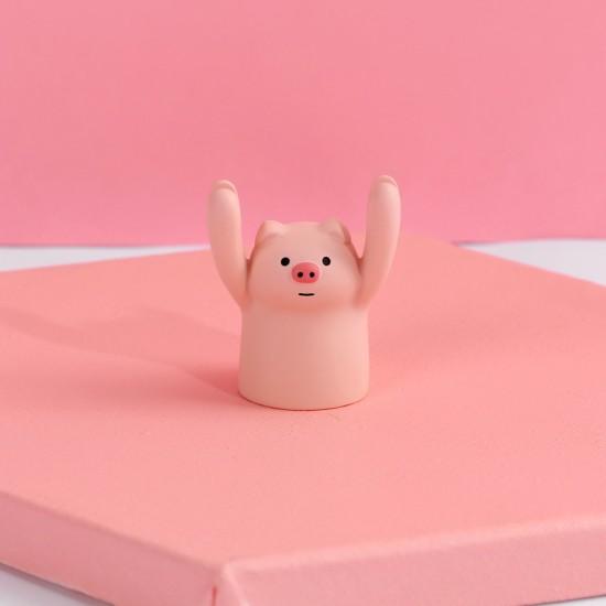 舉手動物名片夾 可愛動物造型辦公名片夾 立式少女心照片夾 創意名片支架