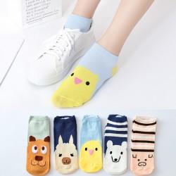 可愛動物船襪 春夏季必備船型襪 可愛動物襪子 學生必備短襪