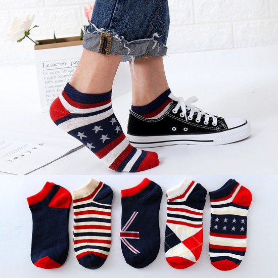 創意國旗風船襪 創意國旗色船型襪 時尚休閒短襪 學生必備短襪 襪子