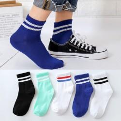 學院風中筒襪 秋冬必備中筒襪 運動防滑襪子 創意條紋中筒襪 學生必備