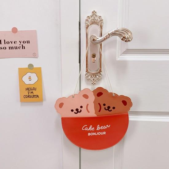 小動物壁掛收納袋 宿舍必備掛式收納袋 可愛動物造型掛袋