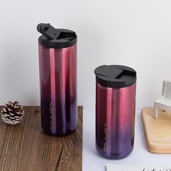 304時尚漸層色保溫杯 外出必備保溫保冷杯 創意辦公必備咖啡杯