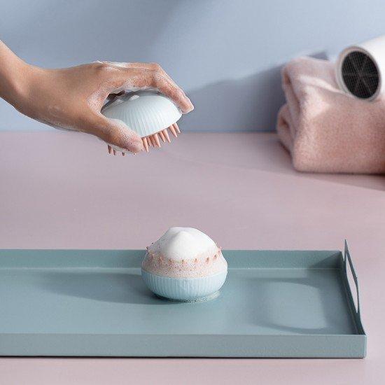 柔軟矽膠洗頭刷 居家必備按摩頭皮神器 乾濕兩用防滑按摩刷