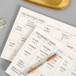 簡約月計畫日程表 學生必備周計畫日程表 創意可撕月計畫本 備忘錄
