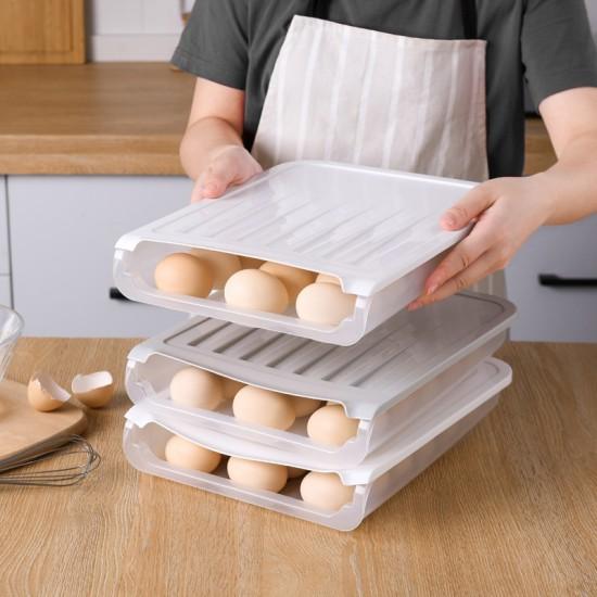 單層雞蛋收納盒 創意設計18格雞蛋保鮮盒 透氣雞蛋收納盒