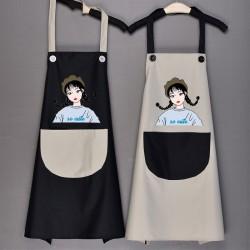 日式女孩防水圍裙 廚房必備時尚防水圍裙 家務工作圍裙