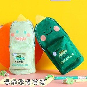 創意可愛造型筆袋 可愛恐龍貓咪造型筆袋 多功能文具收納袋 大容量文具收納袋