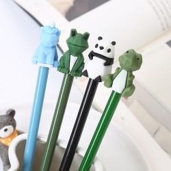 3D動物造型中性筆 可愛幾何動物造型原子筆 創意造型中性筆
