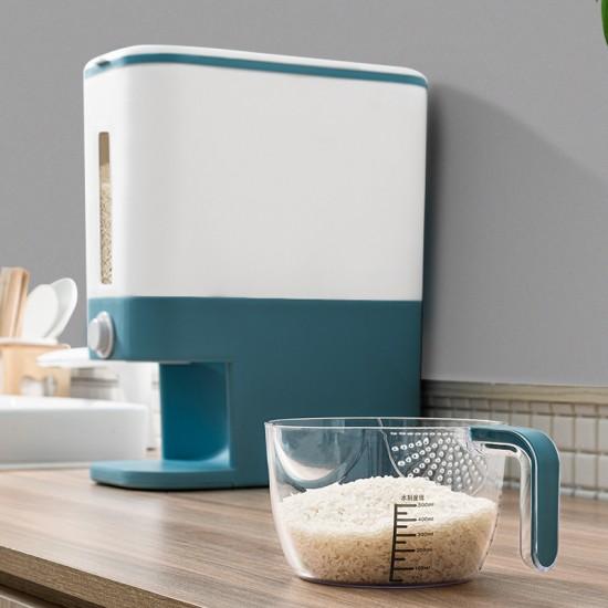 簡約計量收納米桶 創意居家必備防潮儲米箱 五穀雜糧收納筒
