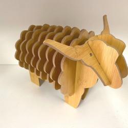 動物造型隔熱墊組 創意小牛小羊木製隔熱墊 廚房必備隔熱墊