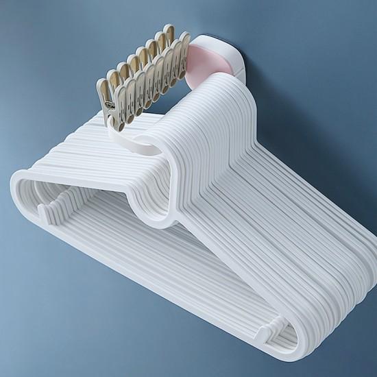 簡約衣架收納架 居家必備可折疊衣架掛勾 創意壁掛式收納整理架