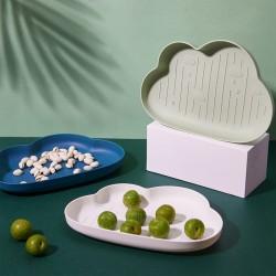 創意雲朵造型水果盤 簡約多功能零食盤 創意造型蔬果盤