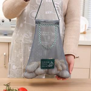 壁掛式蔬果收納網袋 創意鏤空儲物袋 廚房浴室客廳必備掛袋 收納袋