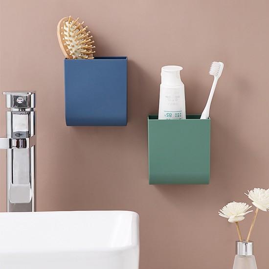 多用途壁掛式收納盒 創意遙控器收納置物架 手機充電架 浴室牙刷牙膏收納架