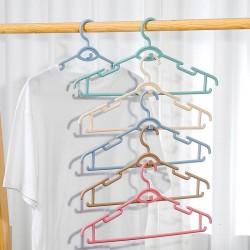 創意多功能疊掛衣架 塑膠成人防滑衣架 居家必備衣櫃衣架 防滑無痕衣架 10個裝