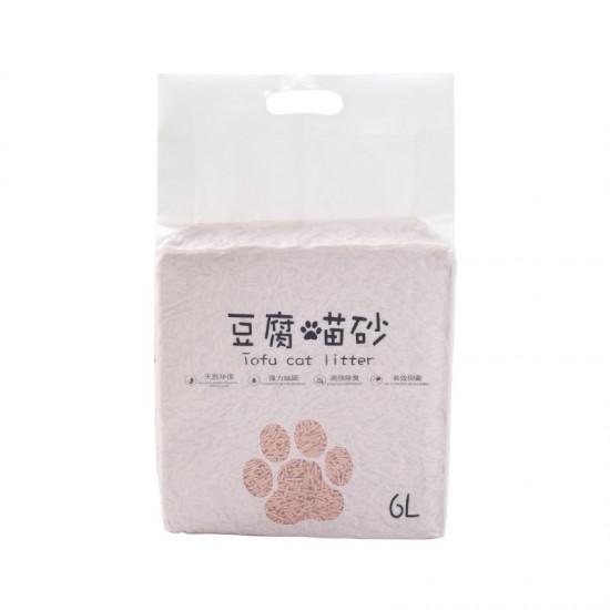 創意天然豆腐貓砂 強力除臭植物貓砂 6L環保貓沙 豆腐砂