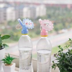 可愛笑臉小花造型澆花噴頭 創意園藝澆水器 多功能雙頭灑水器