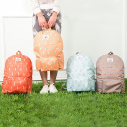 可愛動物防水摺疊背包 多功能旅行雙肩收納包 旅行必備摺疊背包