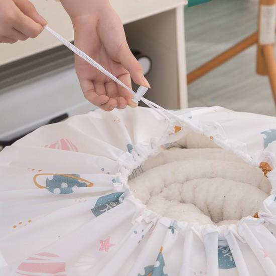 小清新大容量棉被收納袋 圓筒抽繩棉被整理袋 換季必備棉被衣物收納袋