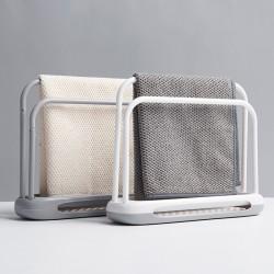 簡約超吸水雙桿抹布架 創意矽藻土毛巾瀝水架 時尚毛巾架 瀝水架