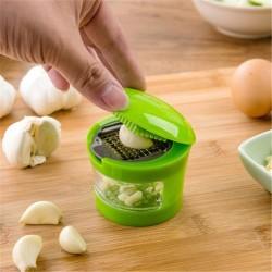 多功能按壓式磨蒜器 小號手動切末工具 廚房必備薑末蒜末按壓器
