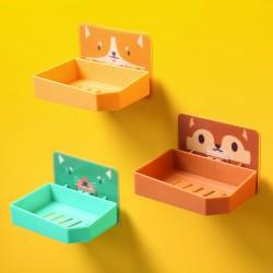 可愛圖案壁掛式肥皂盒 創意浴室必備亮色香皂盒 大號黏貼式肥皂架 香皂架