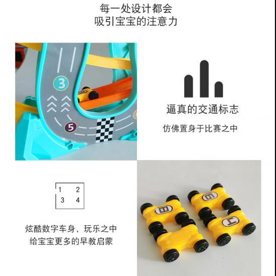 軌道滑翔車玩具 創意趣味滑翔車 軌道車益智玩具