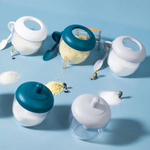 簡約造型日式調味罐 廚房必備寬口調味盒 創意圓形調味瓶