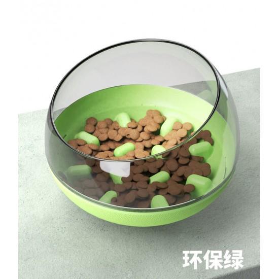 寵物不倒翁慢食碗 大狗小狗專用防打翻寵物碗 太空艙造型寵物餵食碗