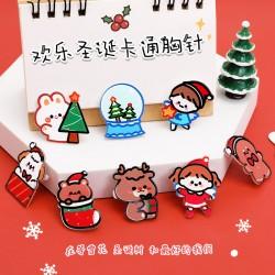可愛聖誕系列造型徽章 創意造型聖誕節必備小裝飾 壓克力胸針