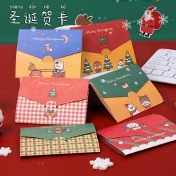 創意摺疊聖誕賀卡 聖誕系列小卡片 聖誕節必備卡片 摺疊小卡片