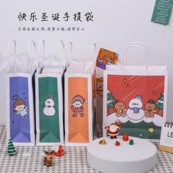 可愛聖誕系列手提袋 小清新聖誕節手提紙袋 聖誕節禮品禮物袋